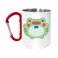 Кружка з ручкою-карабіном Baby frog