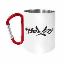 """Кружка с ручкой """"карабин"""" Bad Boy Logo"""