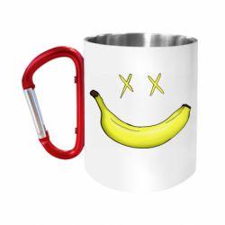 """Кружка с ручкой """"карабин"""" Banana smile"""