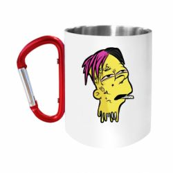 "Кружка с ручкой ""карабин"" Bart as Lil Peep"