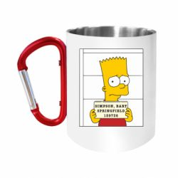 """Кружка с ручкой """"карабин"""" Барт в тюряге"""