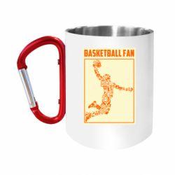 Кружка з ручкою-карабіном Basketball fan