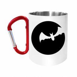 Кружка з ручкою-карабіном Bat