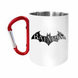 """Кружка с ручкой """"карабин"""" Batman: arkham city"""
