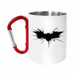 Кружка з ручкою-карабіном Batman cracks