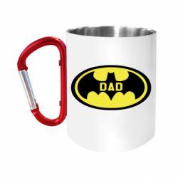 Кружка з ручкою-карабіном Batman dad