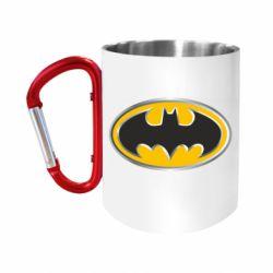 """Кружка с ручкой """"карабин"""" Batman Gold Logo"""