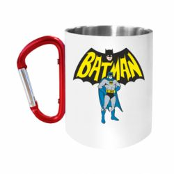 """Кружка с ручкой """"карабин"""" Batman Hero"""