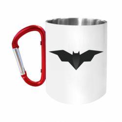 "Кружка с ручкой ""карабин"" Batman unusual logo"