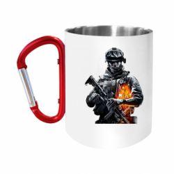 """Кружка с ручкой """"карабин"""" Battlefield Warrior"""