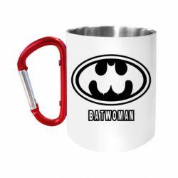 Кружка з ручкою-карабіном Batwoman