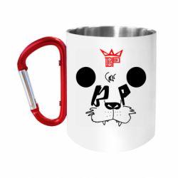 """Кружка с ручкой """"карабин"""" Bear panda"""