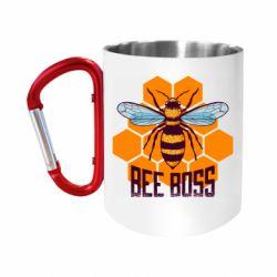 "Кружка с ручкой ""карабин"" Bee Boss"