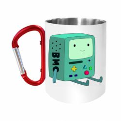 """Кружка с ручкой """"карабин"""" Beemo from Adventure Time"""
