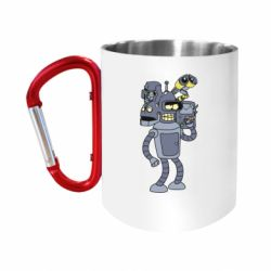 Кружка з ручкою-карабіном Bender and the heads of robots