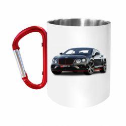 Кружка з ручкою-карабіном Bentley car3