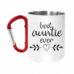 Кружка з ручкою-карабіном Best auntie ever