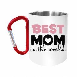 Кружка з ручкою-карабіном Best mom