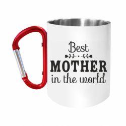 Кружка з ручкою-карабіном Best mother in the world
