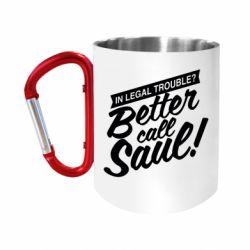 Кружка з ручкою-карабіном Better call Saul!