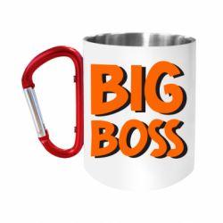 "Кружка с ручкой ""карабин"" Big Boss"