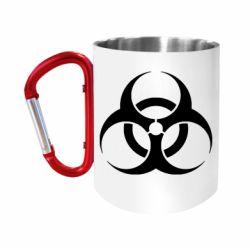 """Кружка с ручкой """"карабин"""" biohazard"""