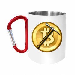 Кружка з ручкою-карабіном Bitcoin Hammer