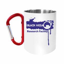 """Кружка с ручкой """"карабин"""" Black Mesa"""