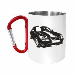 """Кружка с ручкой """"карабин"""" BMW car"""