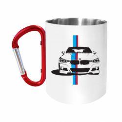 """Кружка с ручкой """"карабин"""" BMW F30"""