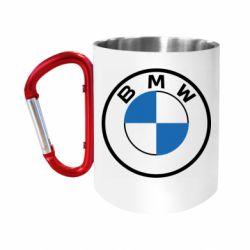 Кружка з ручкою-карабіном BMW logo 2020
