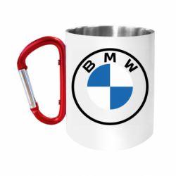 Кружка з ручкою-карабіном BMW logotype 2020