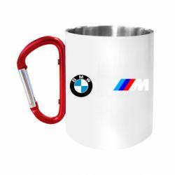 Кружка з ручкою-карабіном BMW M