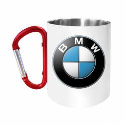 """Кружка с ручкой """"карабин"""" BMW Small Logo"""