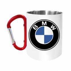 """Кружка с ручкой """"карабин"""" BMW"""