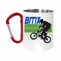 """Кружка с ручкой """"карабин"""" BMX Sport"""