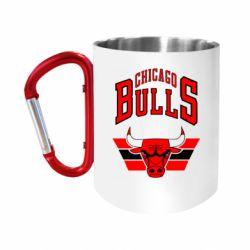 Кружка з ручкою-карабіном Великий логотип Chicago Bulls