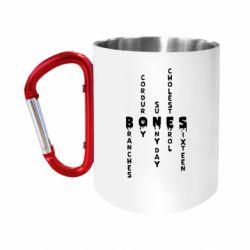 Кружка з ручкою-карабіном Bones text