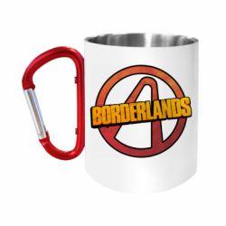 """Кружка с ручкой """"карабин"""" Borderlands logotype"""