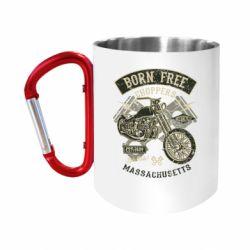 Кружка з ручкою-карабіном Born Free Choppers