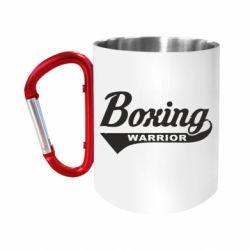 Кружка з ручкою-карабіном Boxing Warrior