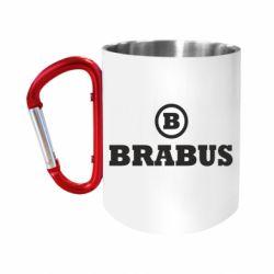 """Кружка с ручкой """"карабин"""" Brabus"""