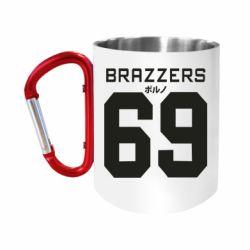 "Кружка с ручкой ""карабин"" Brazzers 69"