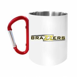Кружка з ручкою-карабіном Brazzers new