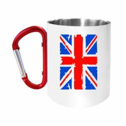 """Кружка с ручкой """"карабин"""" Британский флаг"""