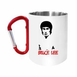 "Кружка с ручкой ""карабин"" Bruce Lee"