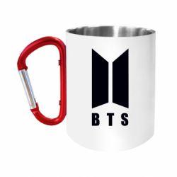 """Кружка с ручкой """"карабин"""" BTS logotype"""