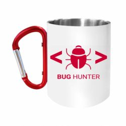 Кружка з ручкою-карабіном Bug Hunter