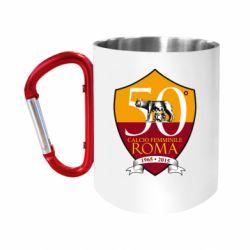 Кружка з ручкою-карабіном Calcio Femminile Roma