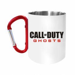 Кружка з ручкою-карабіном Call of Duty Ghosts логотип